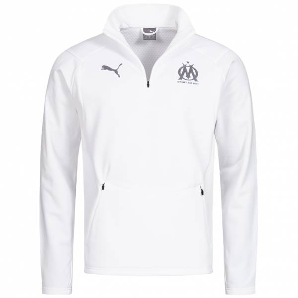 Olympique Marseille PUMA fleece para hombre 1/4 zip top 753989-05