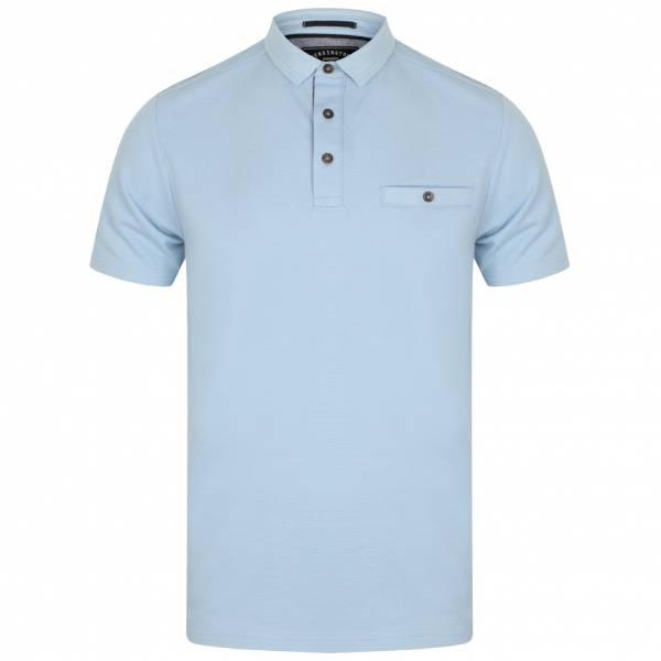 Kensington Eastside Landseer Textured Herren Polo-Shirt 1X10691 Placid Blue