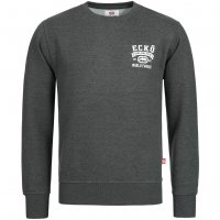 ECKO Unltd. Spider Herren Sweatshirt ESK4164 Heather Charcoal Marl