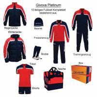 Givova Box Platinum Fußball Set 10-tlg. rot/navy