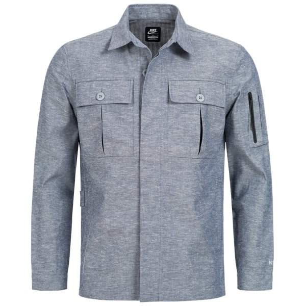 Nike NSW Chambray Herren Shirt Jacke 487628-410