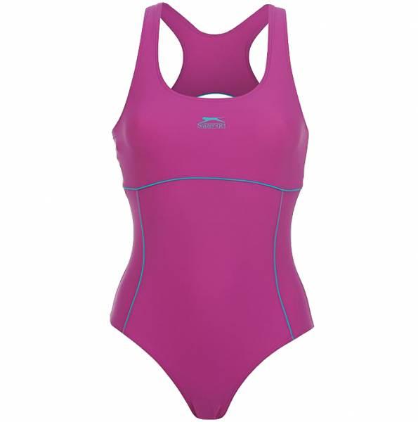Slazenger Racer Damen Badeanzug Purple/Brt Blue