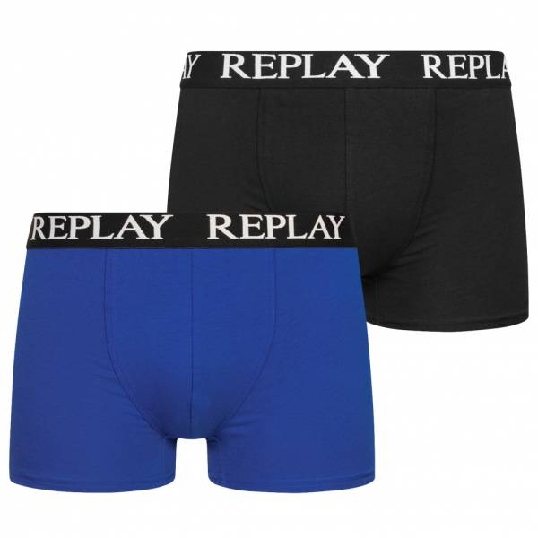 REPLAY Trunk Boxer Herren Boxershorts 2er-Pack 101005-N090