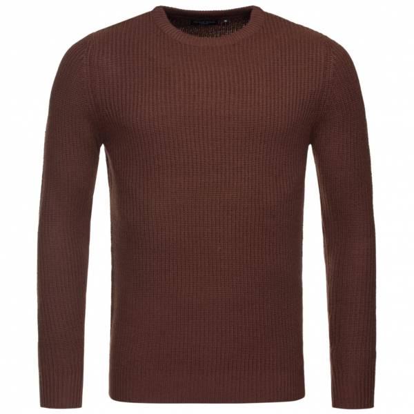 BRAVE SOUL Fulton Rib Detail Herren Sweatshirt MK-230FULTONB Rich Burgundy