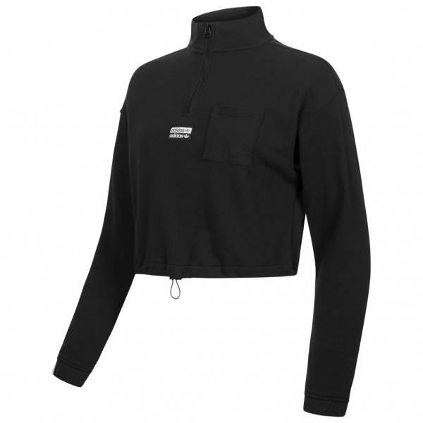 adidas Originals Half Zip Damen Crop Sweatshirt EC0757