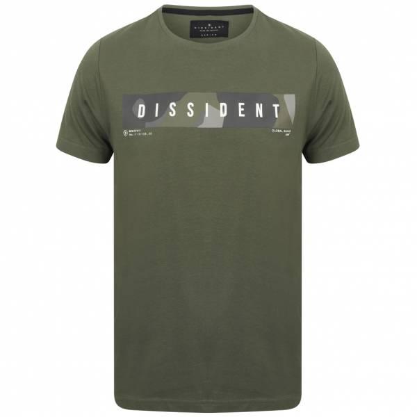 DNM Dissident Gima Herren Logo T-Shirt 1C12392 Thyme