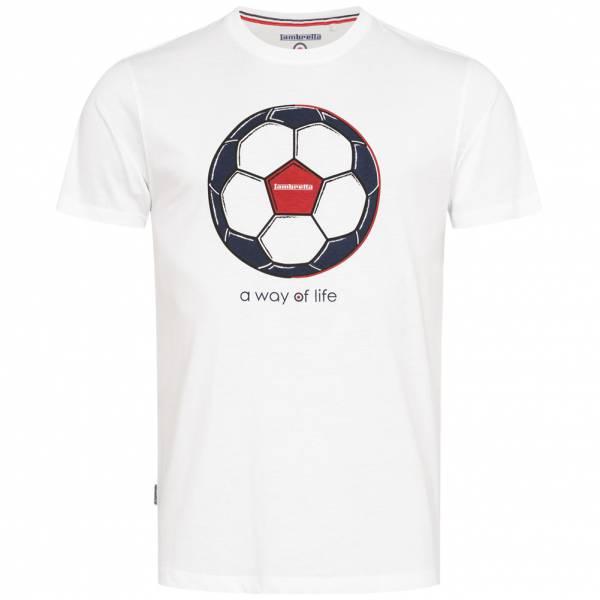 Lambretta World Cup Edition Herren T-Shirt SS3806-WHITE