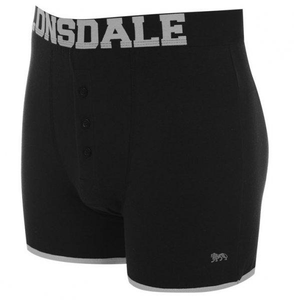 Lonsdale Boxershorts 2 St. schwarz silber