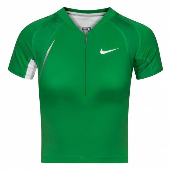 Nike Crop Top Damen Funktions Shirt Leichtathletik Oberteil 714459-333