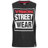 Vision Street Wear Damen Fitness Crew Neck Tank Top Shirt CL3101 black