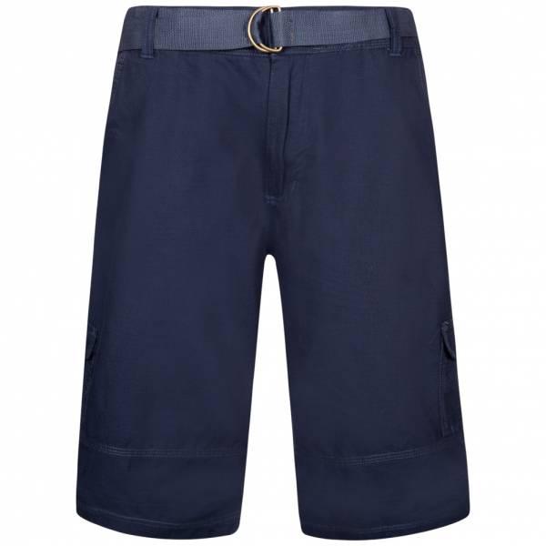 Juno Herren Cargo Shorts mit Gürtel Ripstop 1G11623 Navy Blue