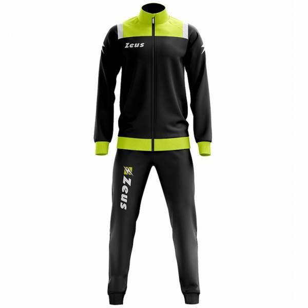 Zeus Tuta Relax Vesuvio Herren Trainingsanzug Schwarz Neon Gelb