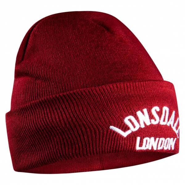 Lonsdale London Herren Beanie dunkelrot 906666-dunkelrot