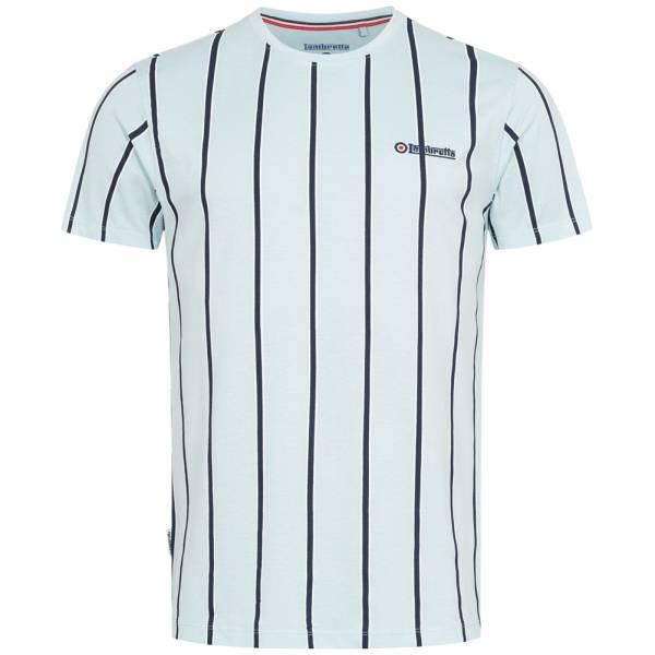 Lambretta Stripe Pique Herren T-Shirt SS5195-COOL BLUE/NAVY