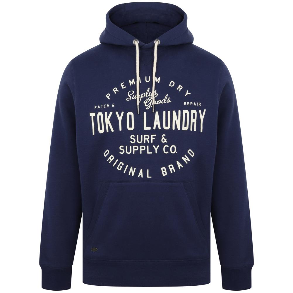 Tokyo Laundry Portopalo Hommes Sweat à capuche 1D12650 Bleu médiéval