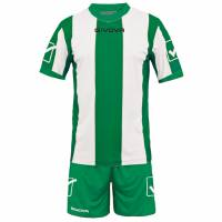 Givova Soccer Set Jersey with Short Kit Catalano Green / White