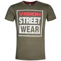 Vision Street Wear Herren Crew T-Shirt CM0245 khaki