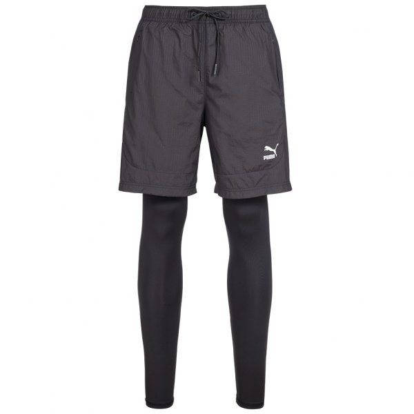 PUMA Evo Embossed Layered Tights Running 2 in 1 Herren Shorts 571738-01