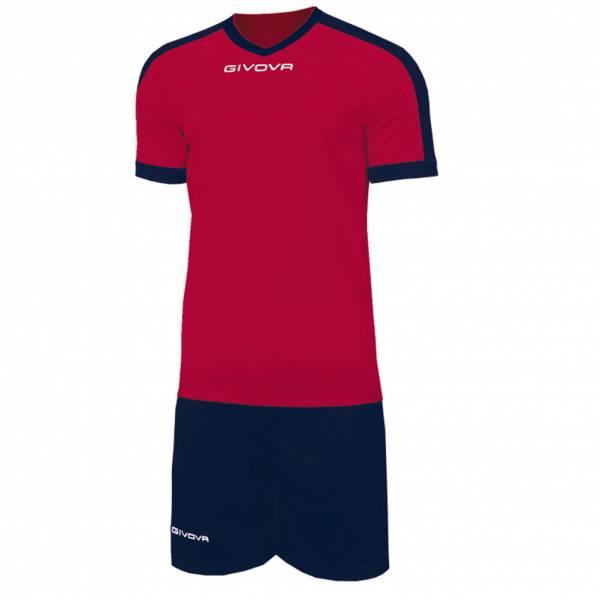 Givova Kit Revolution Maglietta da calcio con Shorts blu navy