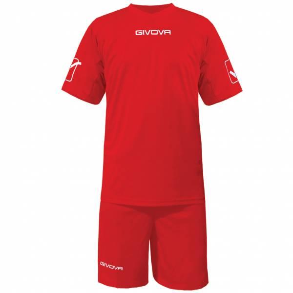 Givova Fußball Set Trikot mit Short Kit Givova rot