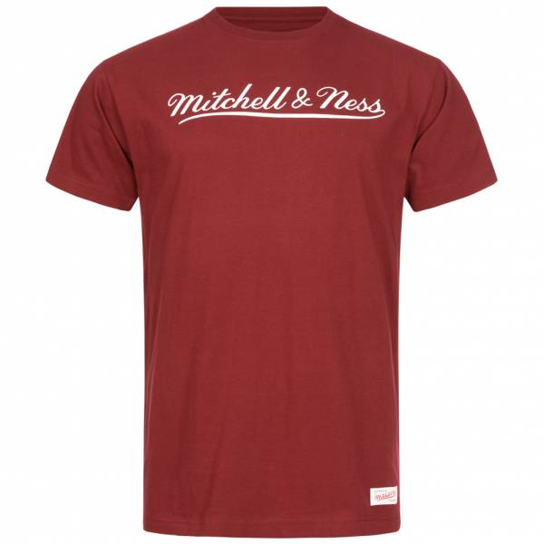 Mitchell & Ness Script Hombre Camiseta MN-BRA-SCRPTLOGOTRAD-BORWHT