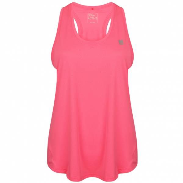 Tokyo Laundry Mancuso 2 Perforated Racer Back Damen Vest Top 3V10518 Pink