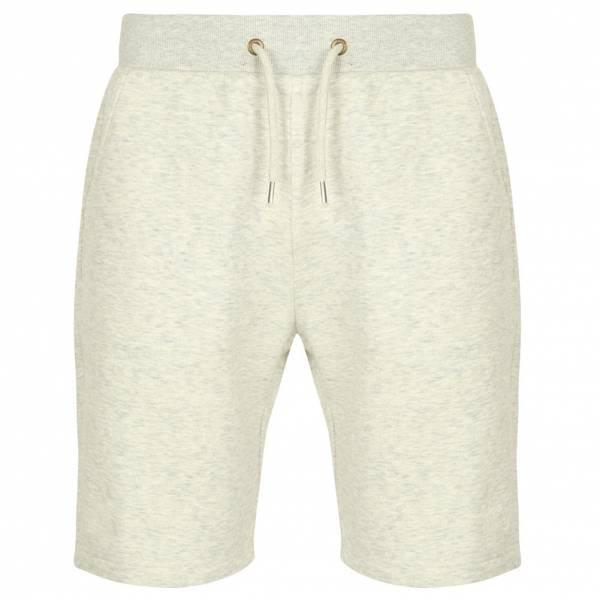 Tokyo Laundry Falcon Herren Fleece Jogger Shorts 1G10465 Oatgrey Marl