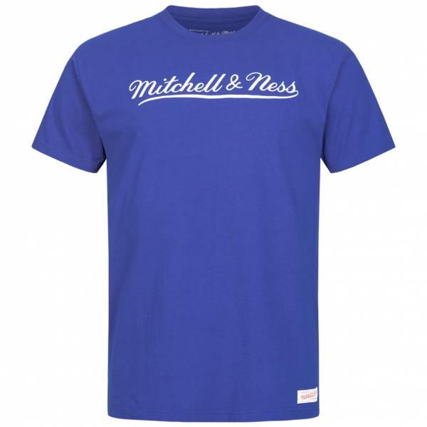 Mitchell & Ness Script Heren T-shirt MN-BRA-SCRPTLOGOTRAD-ROYWHT