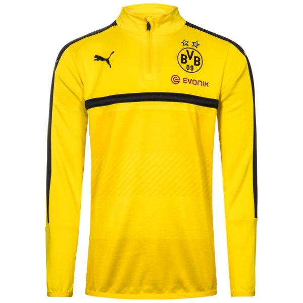 BVB Borussia Dortmund PUMA Kinder 1/4 Zip Trainings Sweatshirt 749853-01