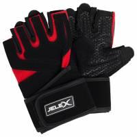JELEX Power Premium gepolsterte Trainingshandschuhe schwarz-rot