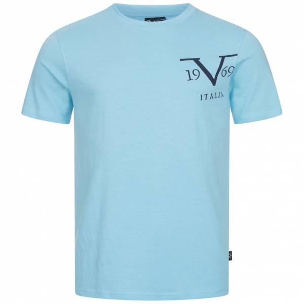 19V69 Versace 1969 Big Logo Herren T-Shirt VI20SS0010B hellblau
