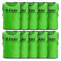 Zeus 10er-Pack Trainingsleibchen Neon Grün