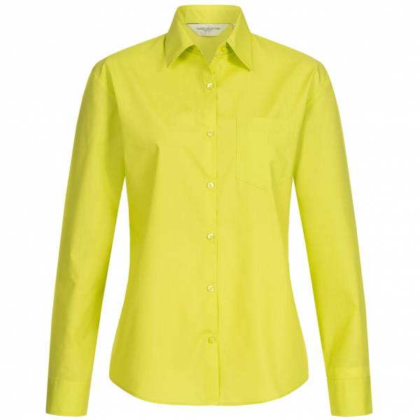 RUSSELL Longsleeve Poly-Cotton Poplin Women Shirt 0R934F0-Lime