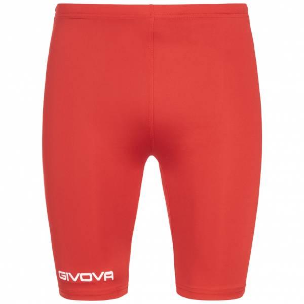 Givova Bermuda Skin Compression Tights Cycling Shorts red