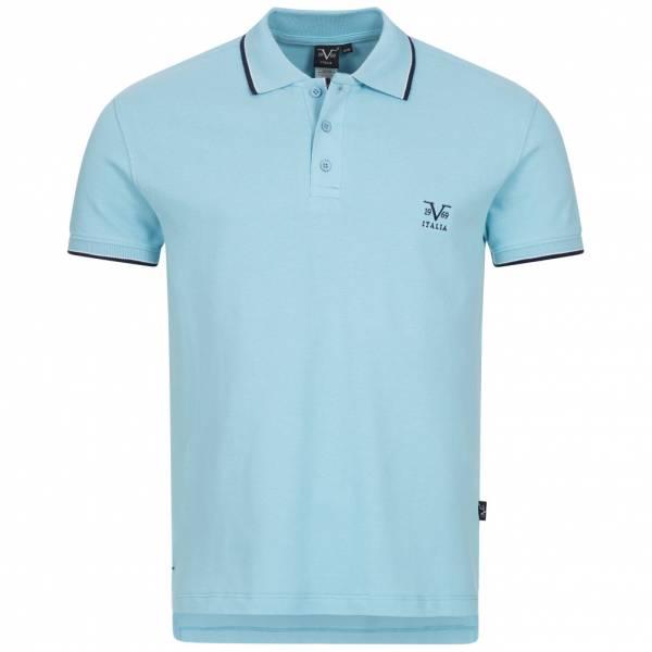19V69 Versace 1969 Costina Herren Freizeit Polo-Shirt VI20SS0005B hellblau