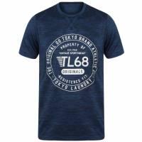 Tokyo Laundry Fitchburg Reflective Motif Herren T-Shirt 1C10829 Sapphire