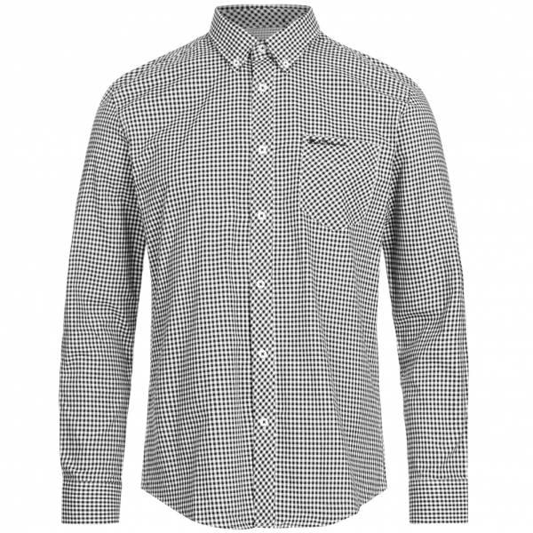 BEN SHERMAN Hombre Camisa de manga larga 0062086-290 Negro