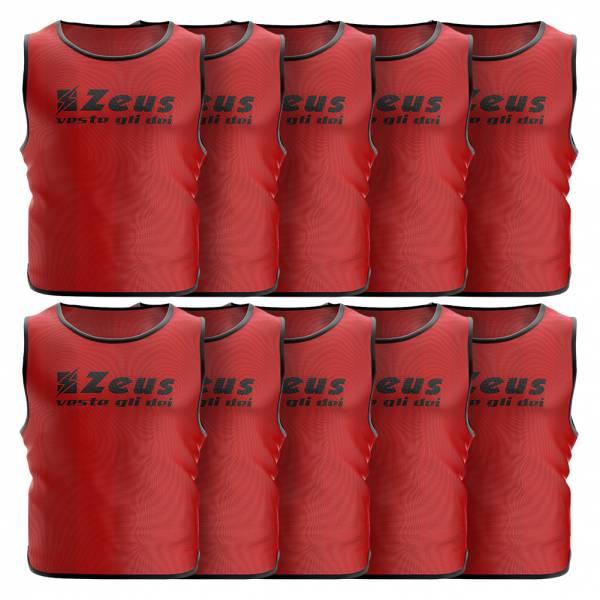 Zeus Pack de 10 Peto de entrenamiento rojo
