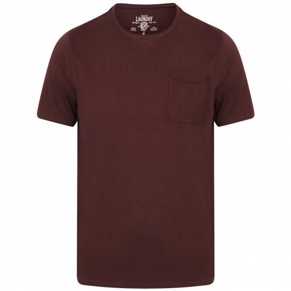 Tokyo Laundry Zac Crew Neck Pocket Herren T-Shirt 1C10666 Wine Tasting