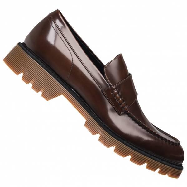Calvin Klein Ferran Box Hombre Zapatos bajos de cuero F1364NWT