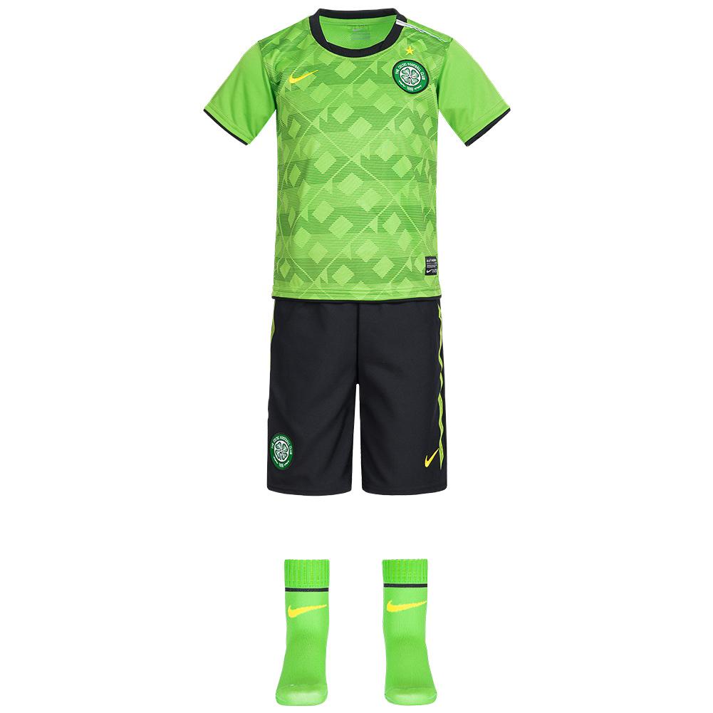 free shipping bf7ef 94f4b Celtic FC Nike Jersey Set Baby Mini Kit 381840-304