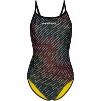 HEAD SWS Team Printed Thin Strap Mid Leg Mädchen Badeanzug 452569-COL