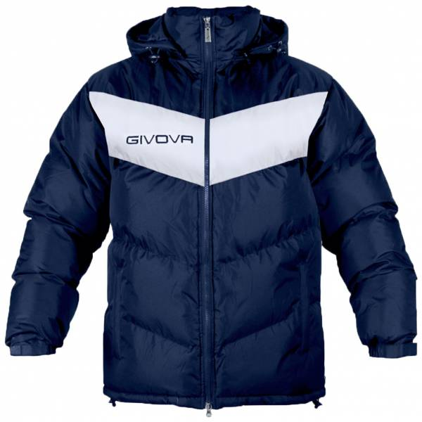 Givova Winterjacke Giubbotto Podio navy/weiss