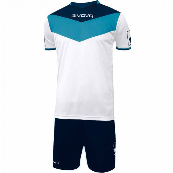 Givova Kit Campo Jersey Set Jersey + Shorts navy / light blue