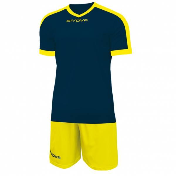 Givova Kit Revolution Fußball Trikot mit Short navy gelb