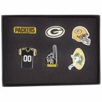 Green Bay Packers NFL Metall Pin Anstecker 6er-Set BDNFL6SETGP