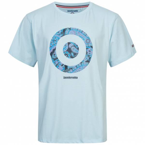 Lambretta Paisley Target Herren T-Shirt SS5141-COOL BLUE