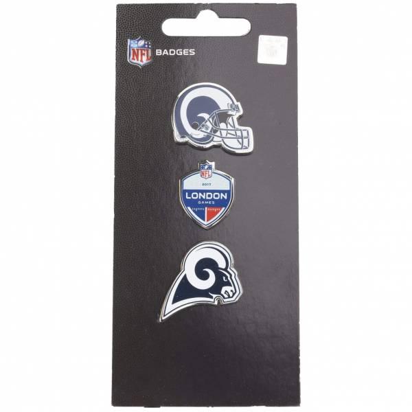 Rams de Los Angeles NFL Pins métalliques Ensemble de 3 BDNF3HELLA