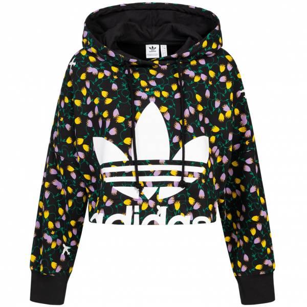 adidas Originals All Over Print Crop Damen Hoodie FL4110