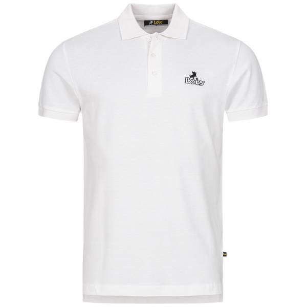 Lois Jeans Herren Polo-Shirt 4E-LPSM-White